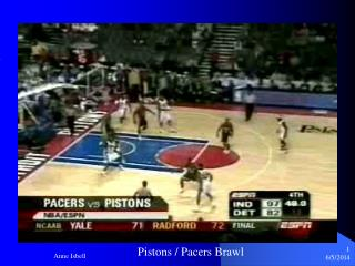 Pistons / Pacers Brawl