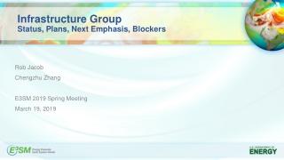 Infrastructure Group Status, Plans, Next Emphasis, Blockers