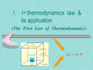 1 st thermodynamics  law  &  its application