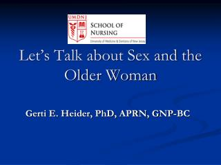Let's Talk about Sex and the Older Woman