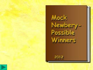 Mock  Newbery- Possible  Winners