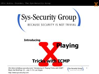 Tricks with ICMP