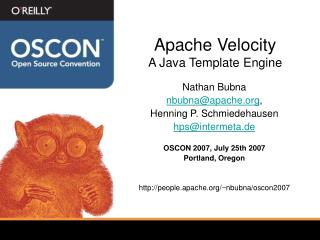 Apache Velocity A Java Template Engine