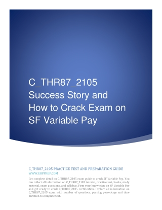 C_THR87_2105 Success Story and How to Crack Exam on SF Variable Pay