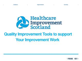 Quality Improvement Tools to support             Your Improvement Work