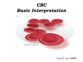 CBC  Basic Interpretation