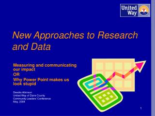 New Approaches to Research and Data