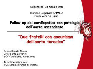 Follow up del cardiopatico con patologia dell'aorta ascendente