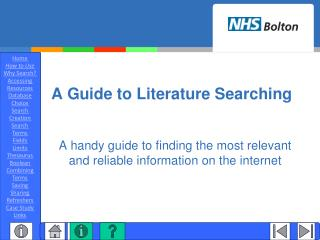 A Guide to Literature Searching