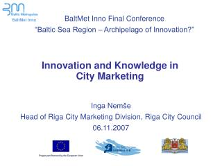 Innovation and Knowledge in City Marketing