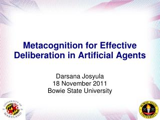 Metacognition for Effective Deliberation in Artificial Agents