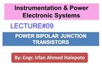 POWER BIPOLAR JUNCTION TRANSISTORS