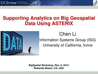 Supporting Analytics on Big Geospatial Data Using ASTERIX