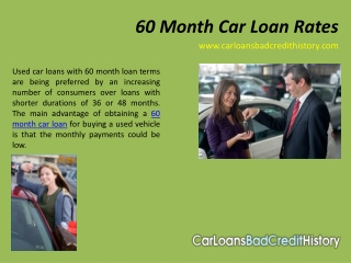 60 month car loan rates