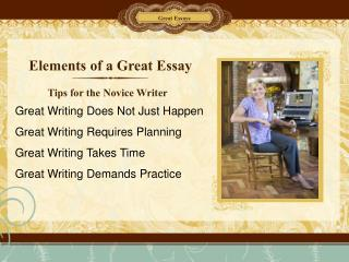 Elements of a Great Essay