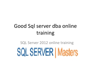 Project oriented online realtime training on sql@SQLSERVER M