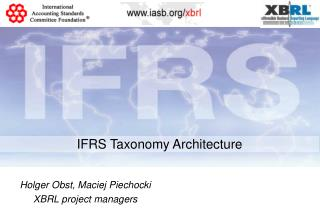 IFRS Taxonomy Architecture