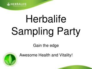 Herbalife shake party invitation templates PowerPoint PPT