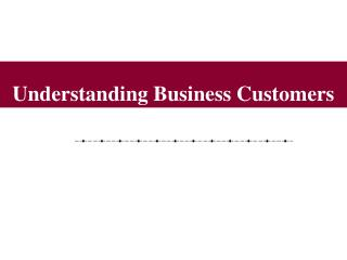 Understanding Business Customers