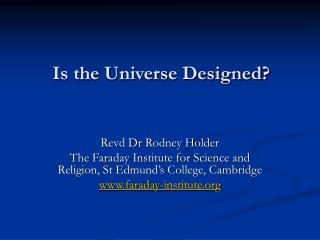 Is the Universe Designed?
