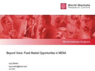 Beyond Voice: Fixed Market Opportunities in MENA