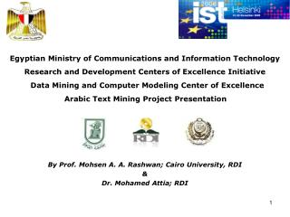 Egyptian Ministry of Communications and Information Technology   Research and Development Centers of Excellence Initiati