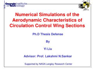 Numerical Simulations of the Aerodynamic Characteristics of  Circulation Control Wing Sections