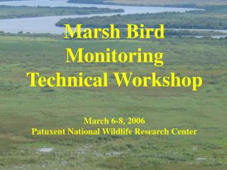 Marsh Bird Monitoring  Technical Workshop March 6-8, 2006 Patuxent National Wildlife Research Center