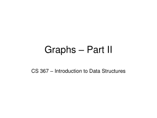 Graphs II