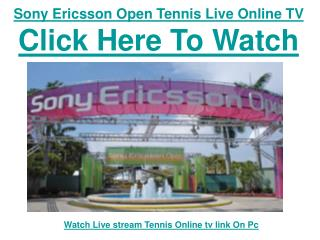 Watch 2011 Sony Ericsson Open Tennis | Jelena Jankovic vs An