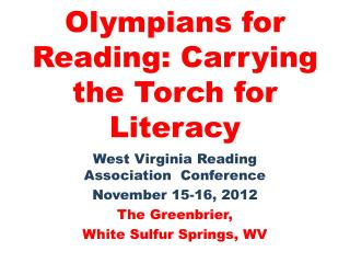 Olympians for Reading: Carrying the Torch for Literacy