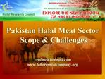 Pakistan Halal Meat Sector  Scope  Challenges    ceolmchotmail lahoremeatcompany