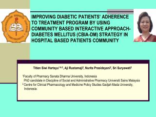 IMPROVING DIABETIC PATIENTS  ADHERENCE  TO TREATMENT PROGRAM BY USING COMMUNITY BASED INTERACTIVE APPROACH-DIABETES MELL