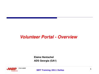 Volunteer Portal - Overview