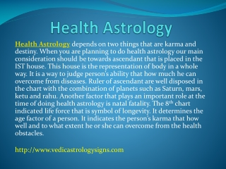Health Astrology