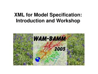 XML for Model Specification: Introduction and Workshop