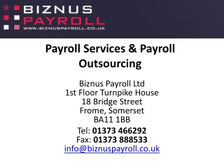 Outsourcing Of Payroll