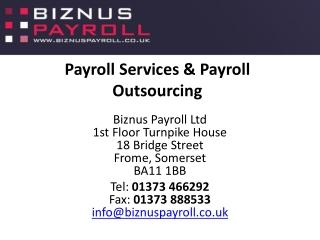 Payroll Companies UK