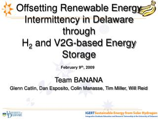 Offsetting Renewable Energy Intermittency in Delaware through   H2 and V2G-based Energy Storage
