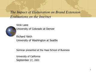The Impact of Elaboration on Brand Extension Evaluations on the Internet