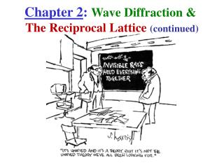 Chapter 2 :  Wave Diffraction &  The Reciprocal Lattice  (continued)