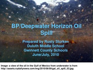 BP/Deepwater Horizon Oil Spill