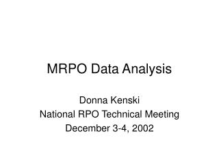 MRPO Data Analysis