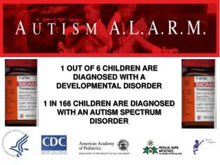 1 OUT OF 6 CHILDREN ARE DIAGNOSED WITH A DEVELOPMENTAL DISORDER 1 IN 166 CHILDREN ARE DIAGNOSED WITH AN AUTISM SPECTRUM