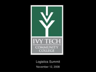 Logistics Summit November 12, 2008