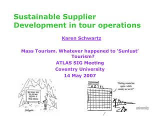 Sustainable Supplier Development in tour operations