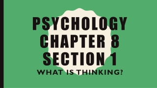 Psychology Chapter 8 Section 1