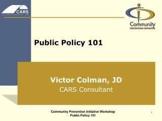 Public Policy 101