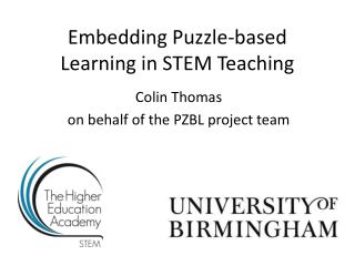 Embedding Puzzle-based Learning in STEM Teaching