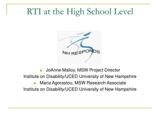RTI at the High School Level